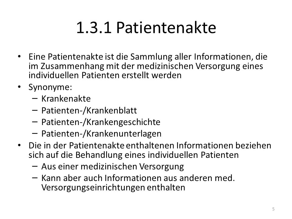 1.3.1 Patientenakte
