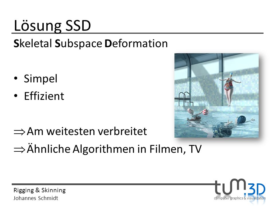 Lösung SSD Skeletal Subspace Deformation Simpel Effizient