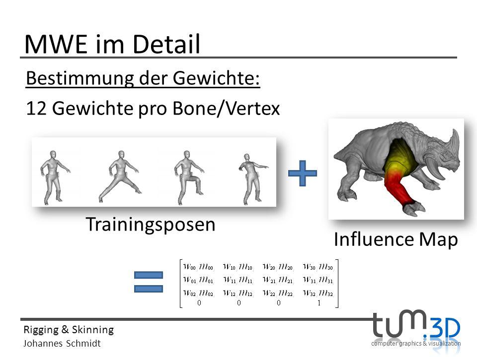 MWE im Detail Bestimmung der Gewichte: 12 Gewichte pro Bone/Vertex