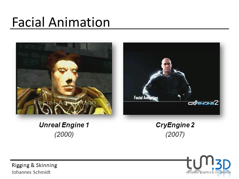 Facial Animation Unreal Engine 1 (2000) CryEngine 2 (2007)