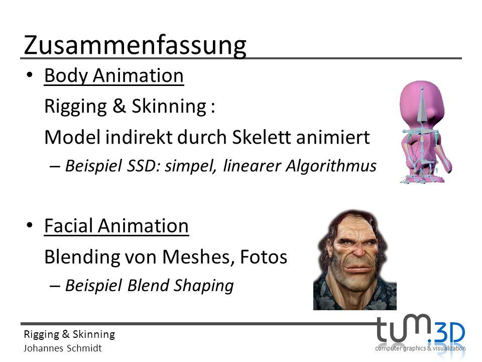 Zusammenfassung Body Animation Rigging & Skinning :