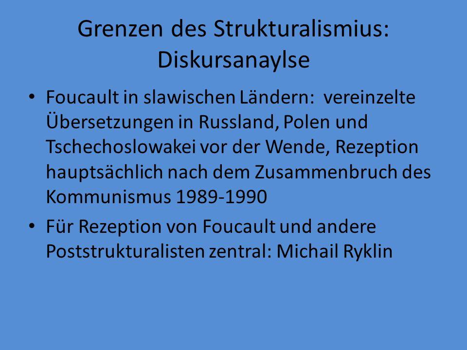 Grenzen des Strukturalismius: Diskursanaylse