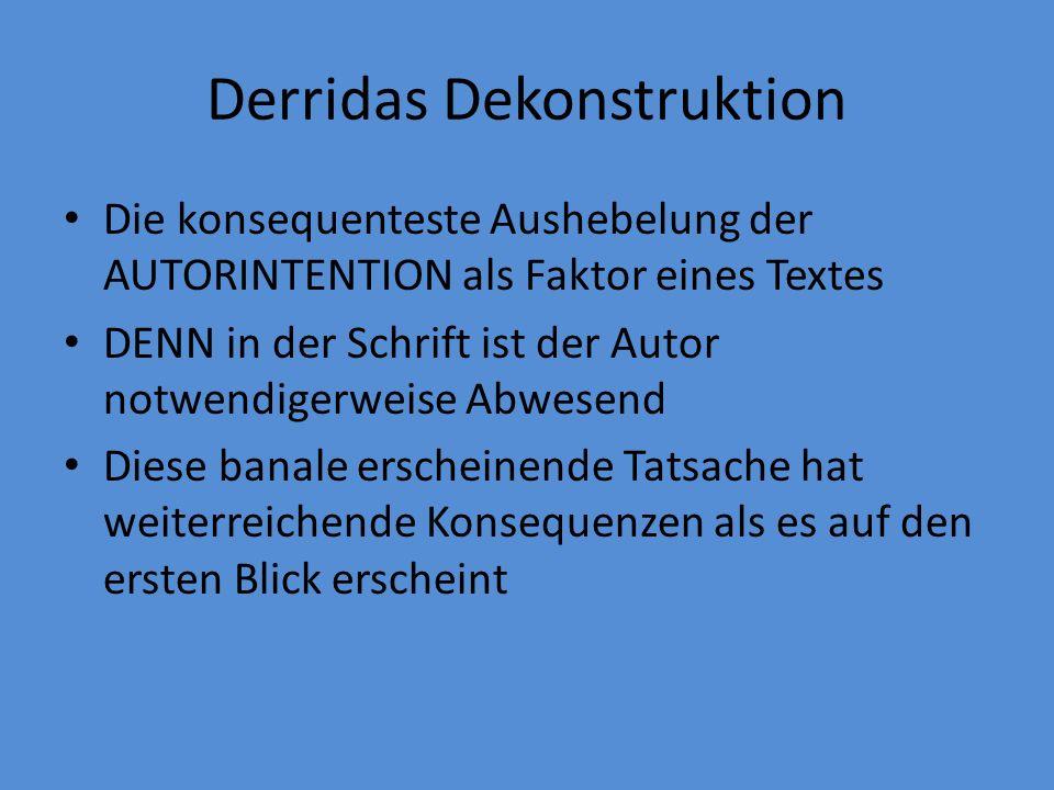 Derridas Dekonstruktion