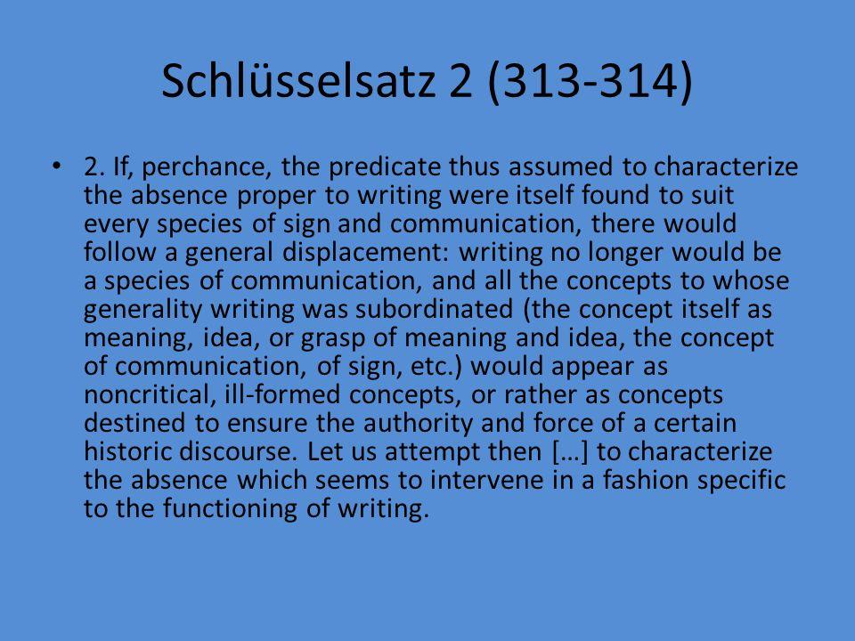 Schlüsselsatz 2 (313-314)