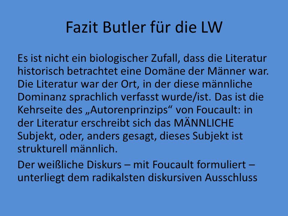 Fazit Butler für die LW