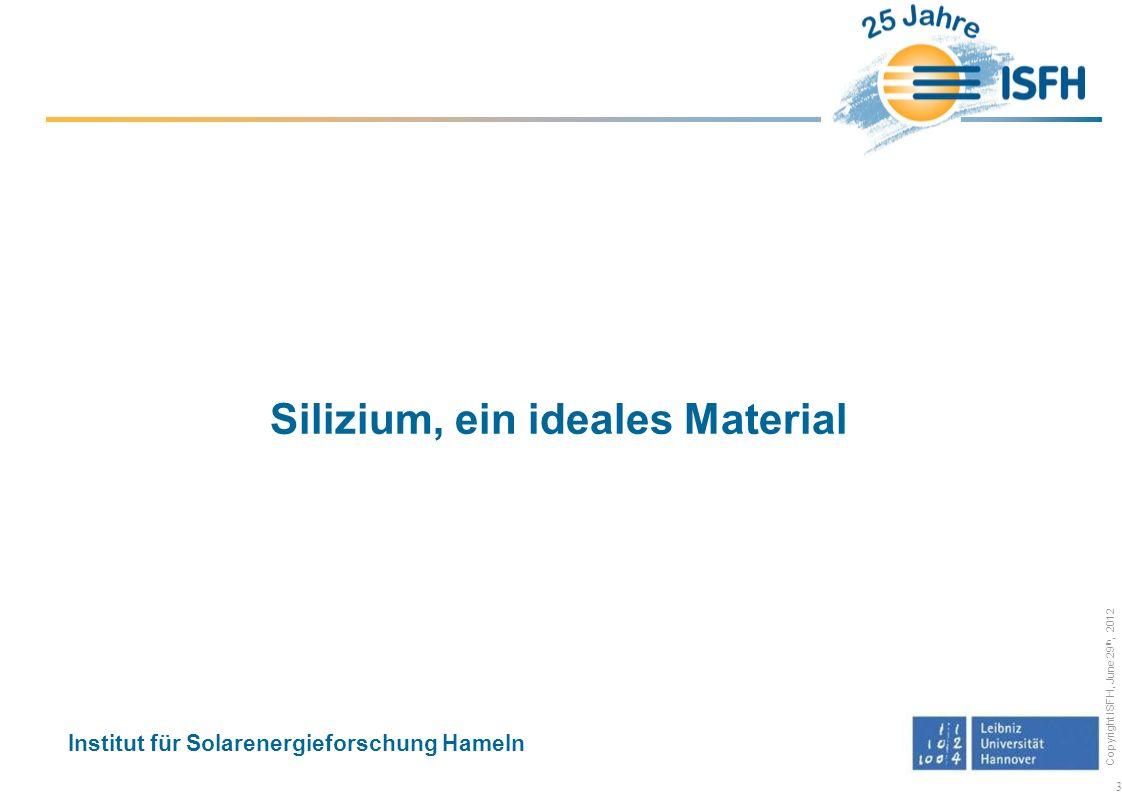 Silizium, ein ideales Material