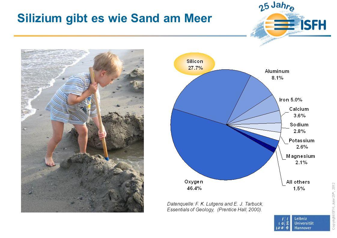 Silizium gibt es wie Sand am Meer