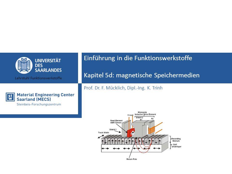 Einführung in die Funktionswerkstoffe Kapitel 5d: magnetische Speichermedien