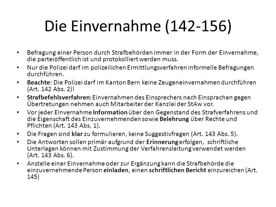 Die Einvernahme (142-156)