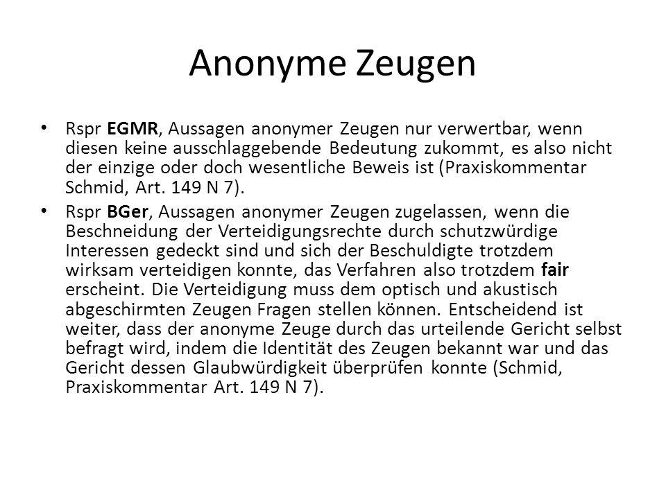 Anonyme Zeugen