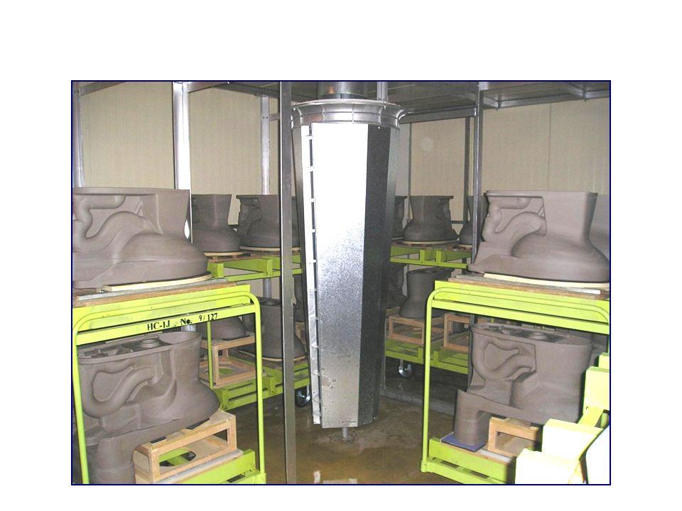 Auch bei Sanitärporzellan übt die ChoriTherm-Trocknung einen sehr günstigen Einfluss auf die Qualität aus.