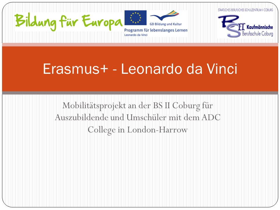 Erasmus+ - Leonardo da Vinci