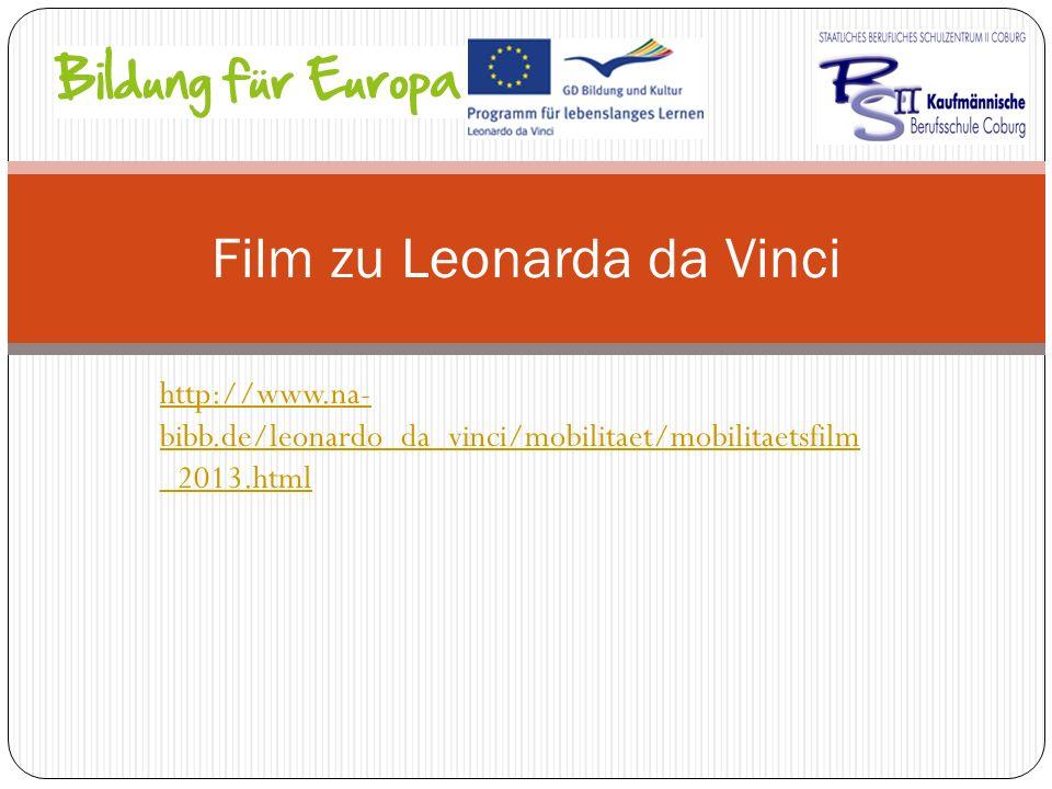 Film zu Leonarda da Vinci