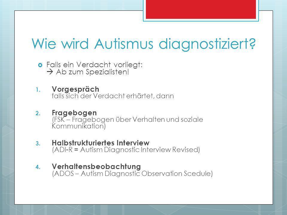 Wie wird Autismus diagnostiziert