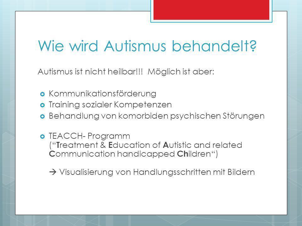 Wie wird Autismus behandelt