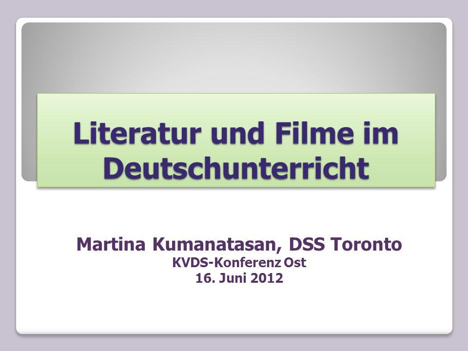 Literatur und Filme im Deutschunterricht