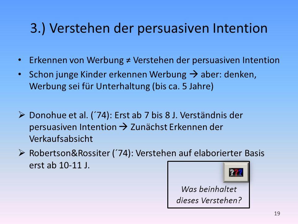 3.) Verstehen der persuasiven Intention