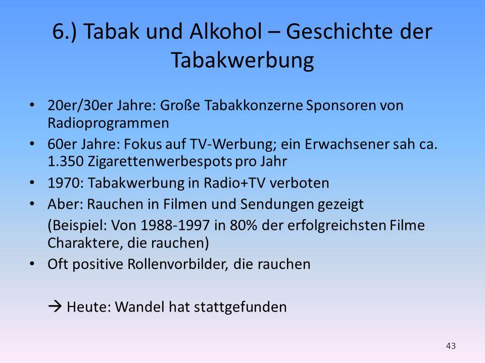 6.) Tabak und Alkohol – Geschichte der Tabakwerbung