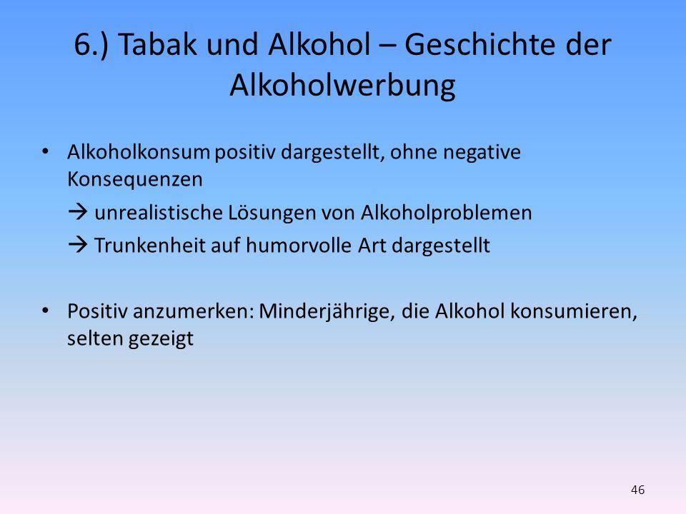 6.) Tabak und Alkohol – Geschichte der Alkoholwerbung