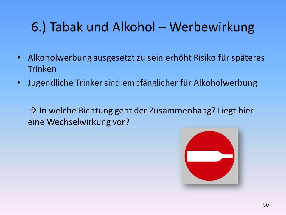 6.) Tabak und Alkohol – Werbewirkung