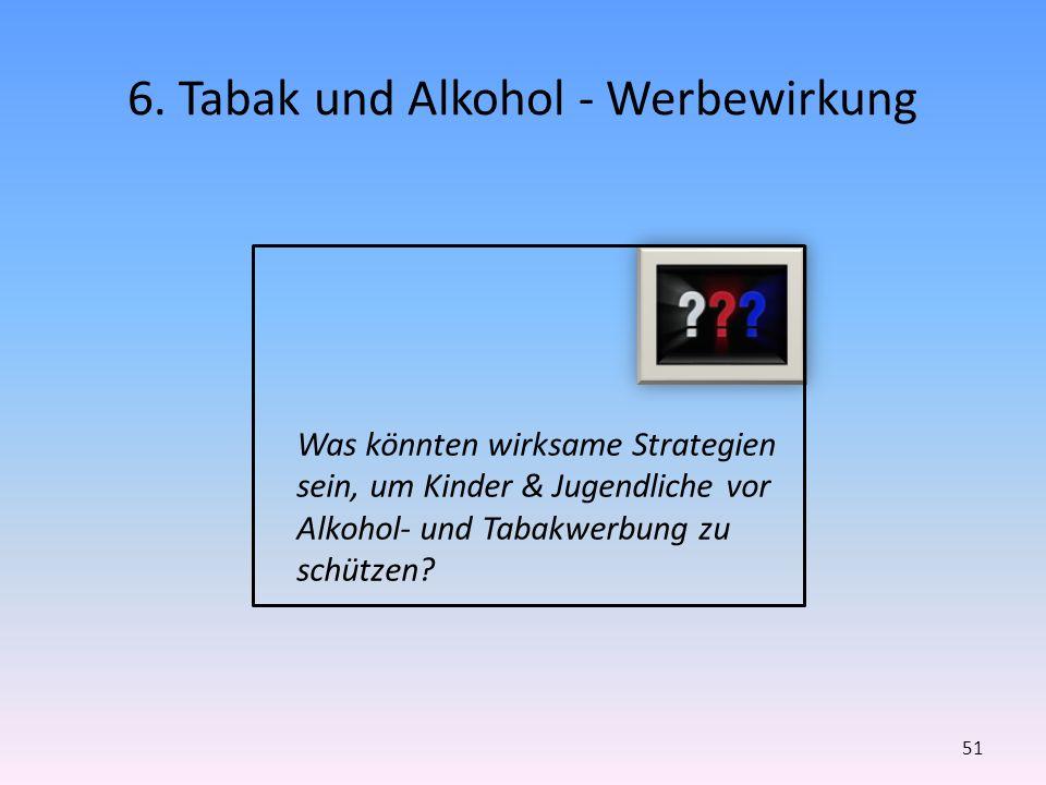 6. Tabak und Alkohol - Werbewirkung