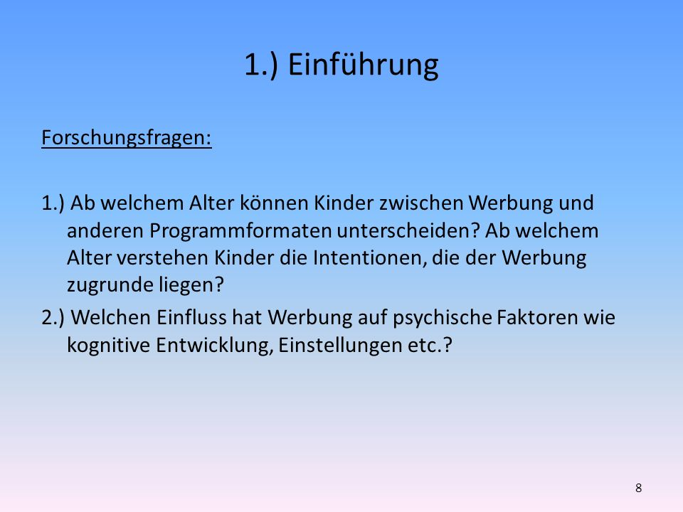 1.) Einführung