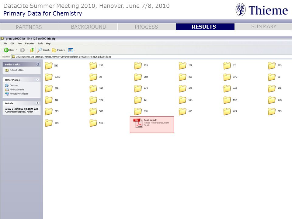 RESULTSPrimary data come neatly organized in a zip file.