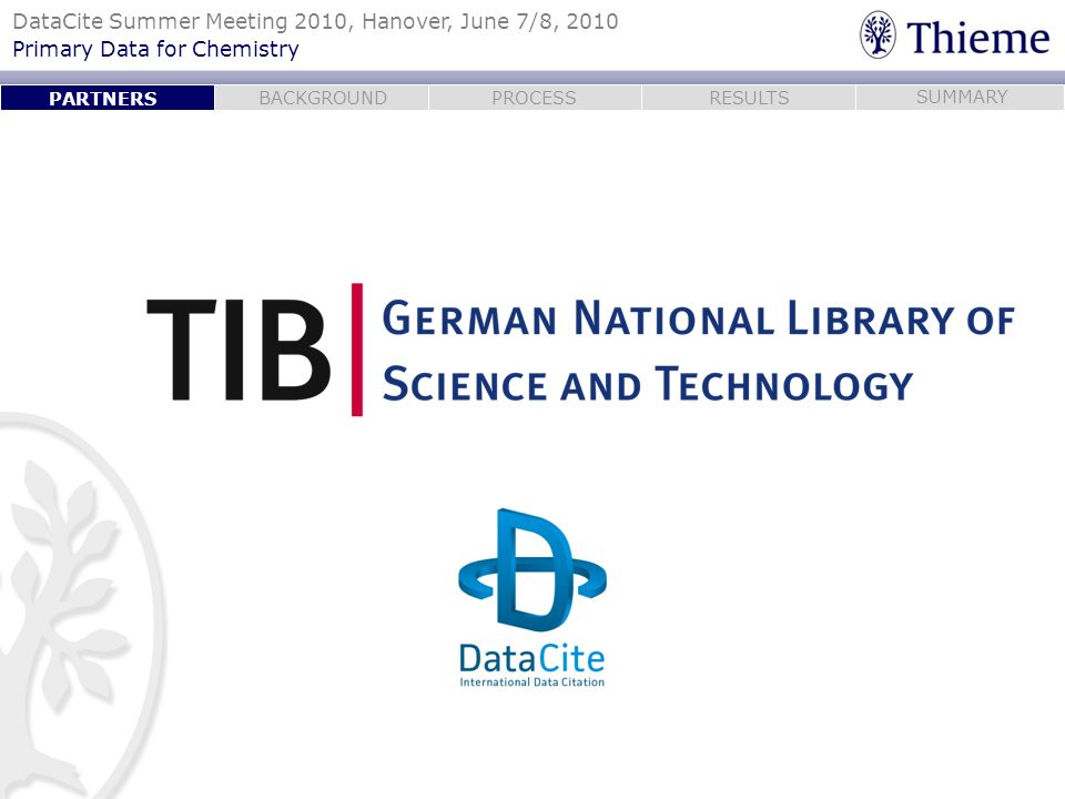 PARTNERSTIB is the largest scientific library in the world. Architecture, Chemistry, Computer Science, Mathematics, Physics, Engineering technology.