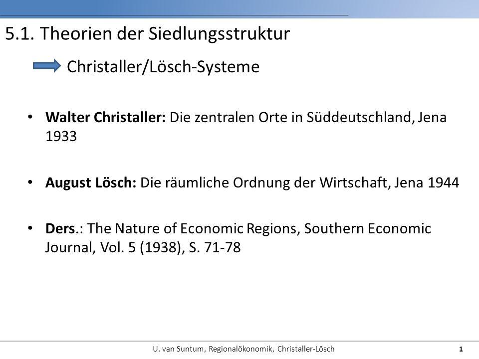 5.1. Theorien der Siedlungsstruktur