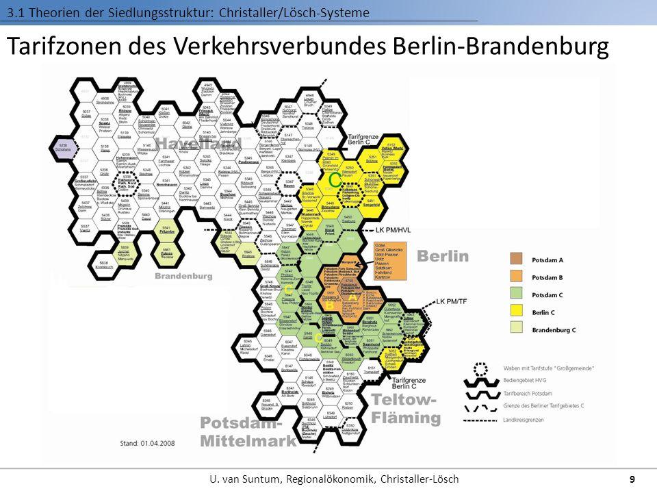 Tarifzonen des Verkehrsverbundes Berlin-Brandenburg