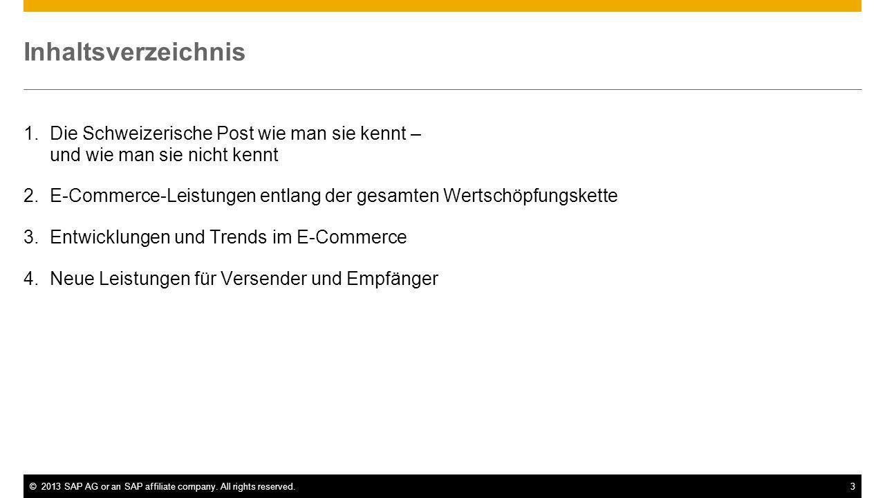 Inhaltsverzeichnis Die Schweizerische Post wie man sie kennt – und wie man sie nicht kennt.