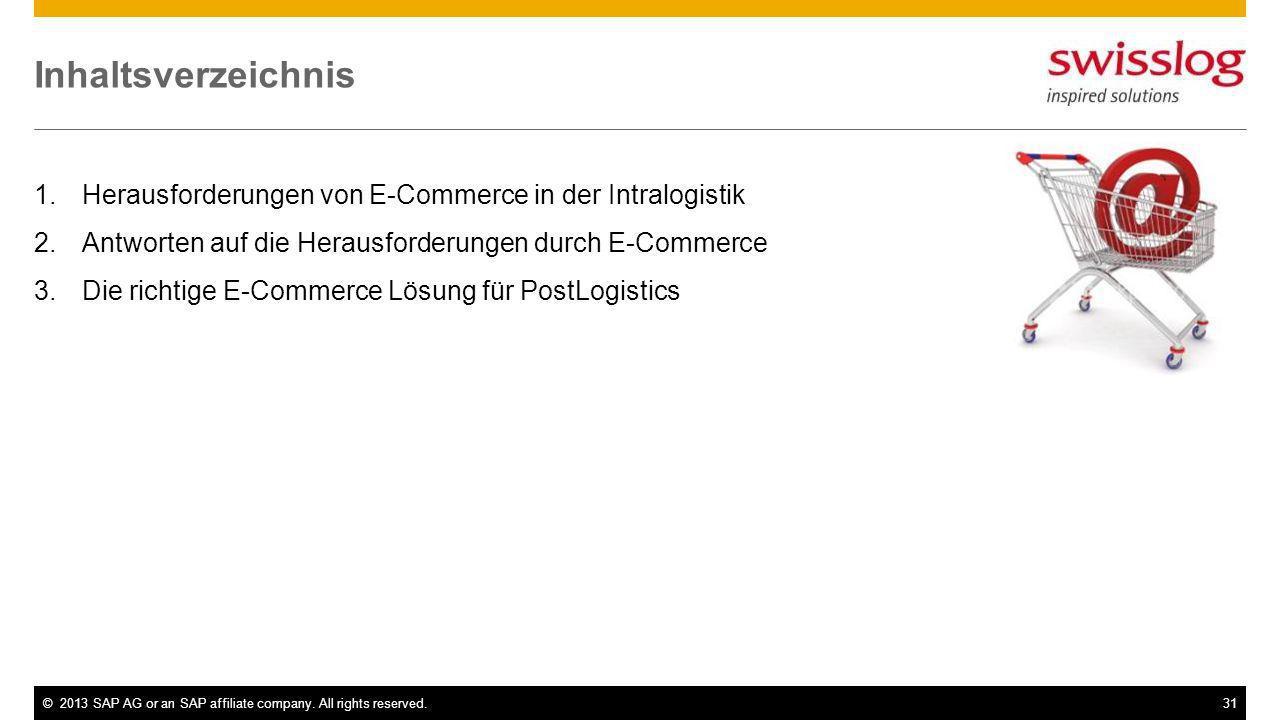 Inhaltsverzeichnis Herausforderungen von E-Commerce in der Intralogistik. Antworten auf die Herausforderungen durch E-Commerce.