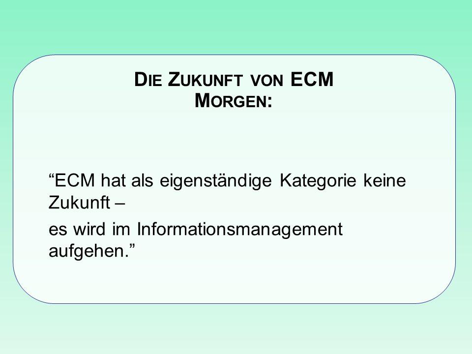 Die Zukunft von ECM Morgen: