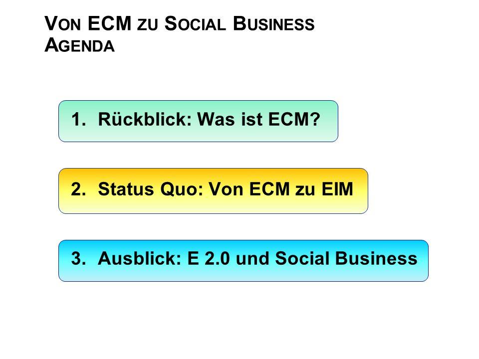 Von ECM zu Social Business Agenda