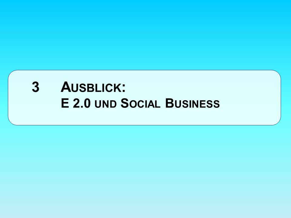 3 Ausblick: E 2.0 und Social Business