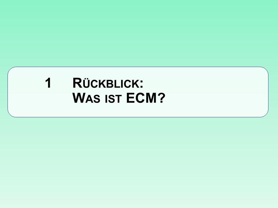 1 Rückblick: Was ist ECM
