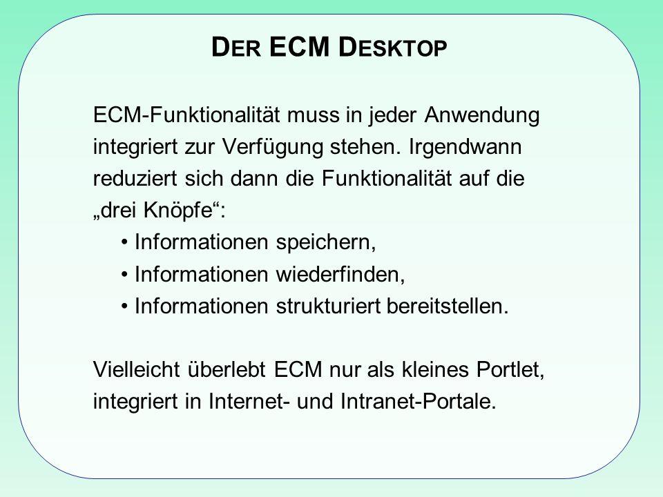 Der ECM Desktop