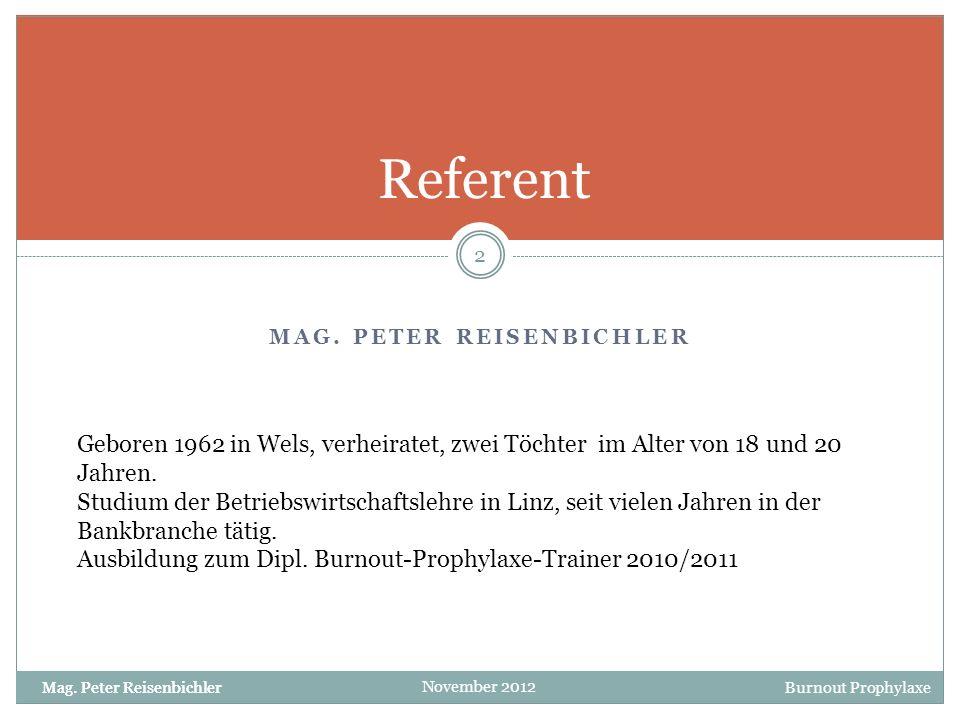 Mag. Peter reisenbichler