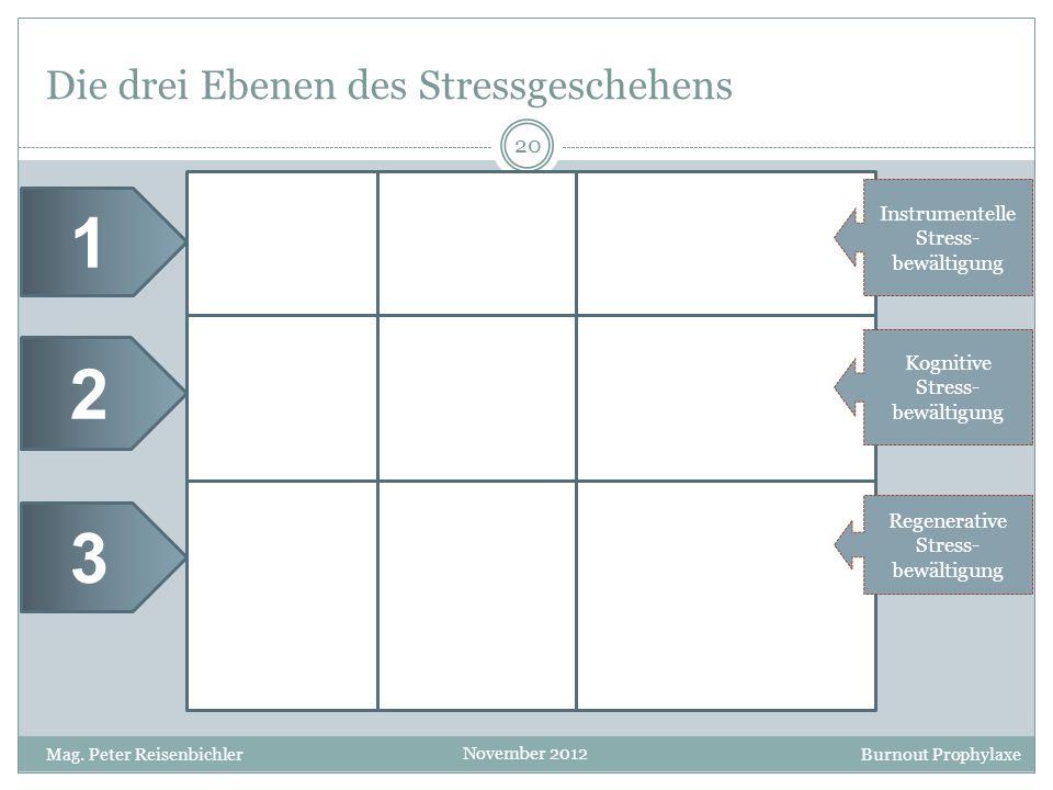 Die drei Ebenen des Stressgeschehens