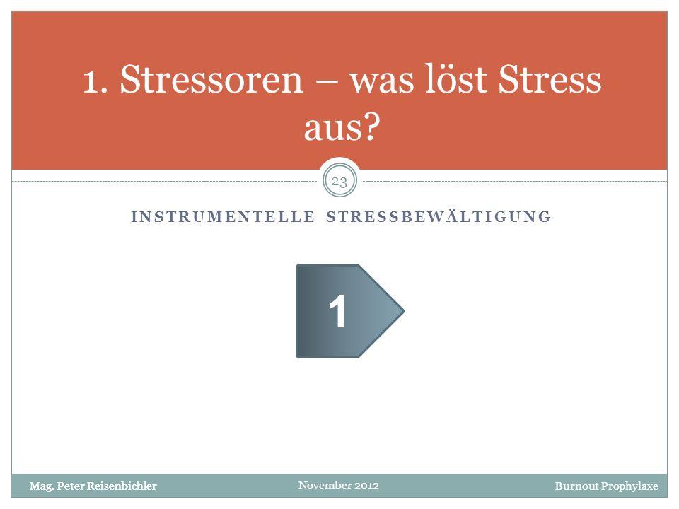 1. Stressoren – was löst Stress aus