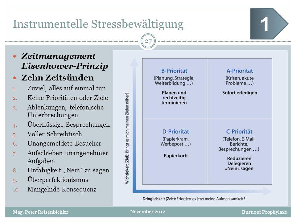 Instrumentelle Stressbewältigung