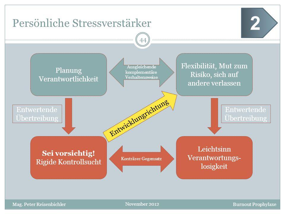 Persönliche Stressverstärker