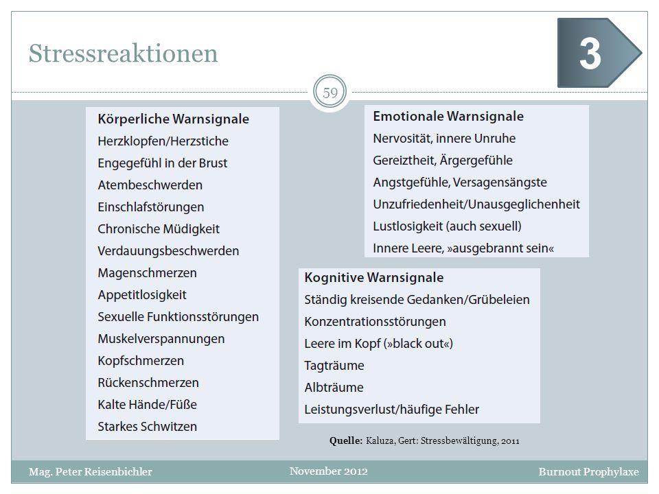 3 Stressreaktionen Mag. Peter Reisenbichler