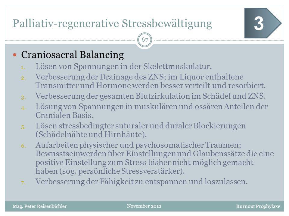 Palliativ-regenerative Stressbewältigung