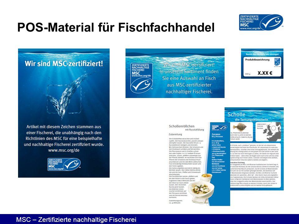 POS-Material für Fischfachhandel