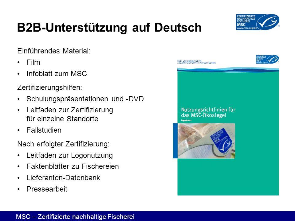 B2B-Unterstützung auf Deutsch