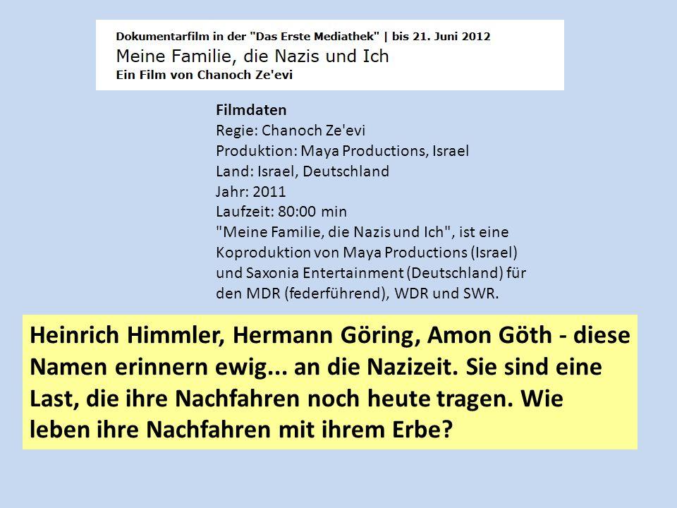 Filmdaten Regie: Chanoch Ze evi Produktion: Maya Productions, Israel Land: Israel, Deutschland Jahr: 2011 Laufzeit: 80:00 min.