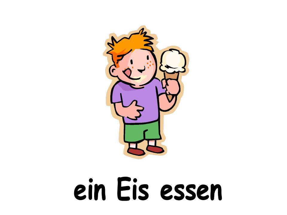 ein Eis essen
