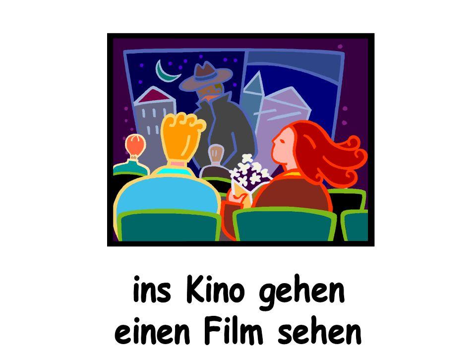 ins Kino gehen einen Film sehen