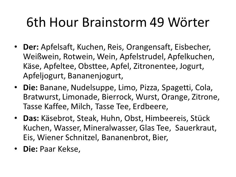 6th Hour Brainstorm 49 Wörter